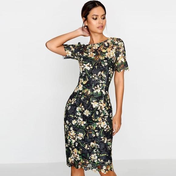 Paper Dolls Floral Print Crochet Lace Dress Nwt Nwt